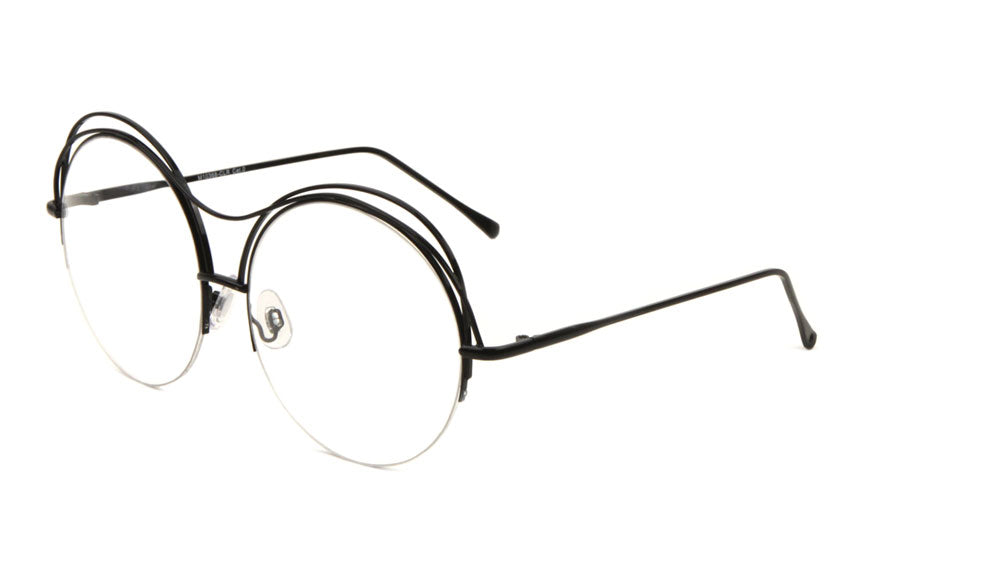 M10368-CLR - Round Clear Lens Wholesale Bulk Glasses