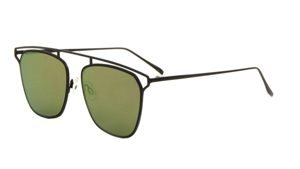 Bridgeless Retro Top Bar Sunglasses Wholesale