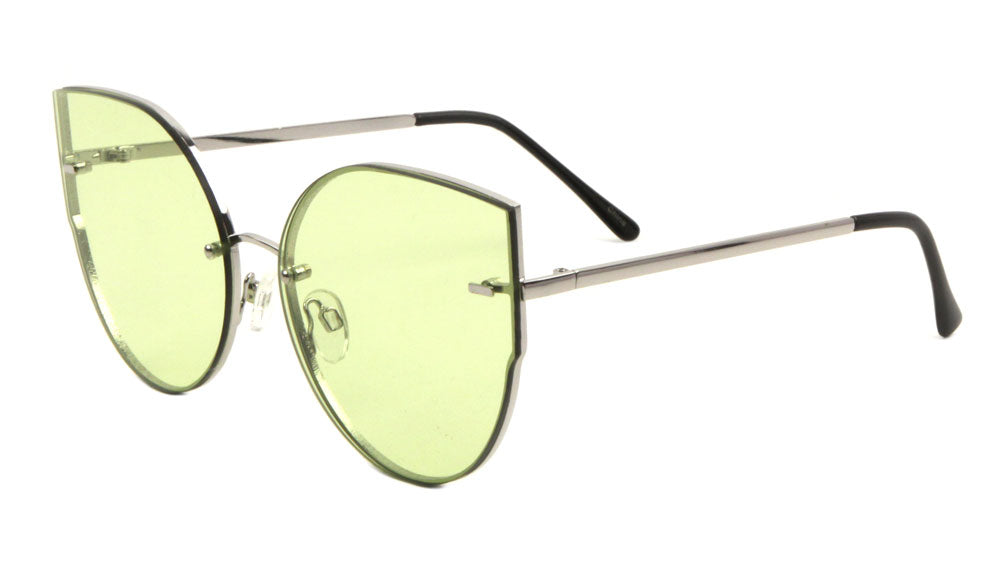 Rimless Cat Eye Fashion Wholesale Sunglasses