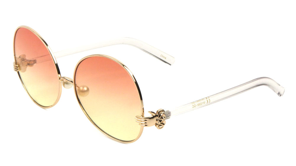 Butterfly Pearl Nose Oceanic Color Lens Wholesale Bulk Sunglasses