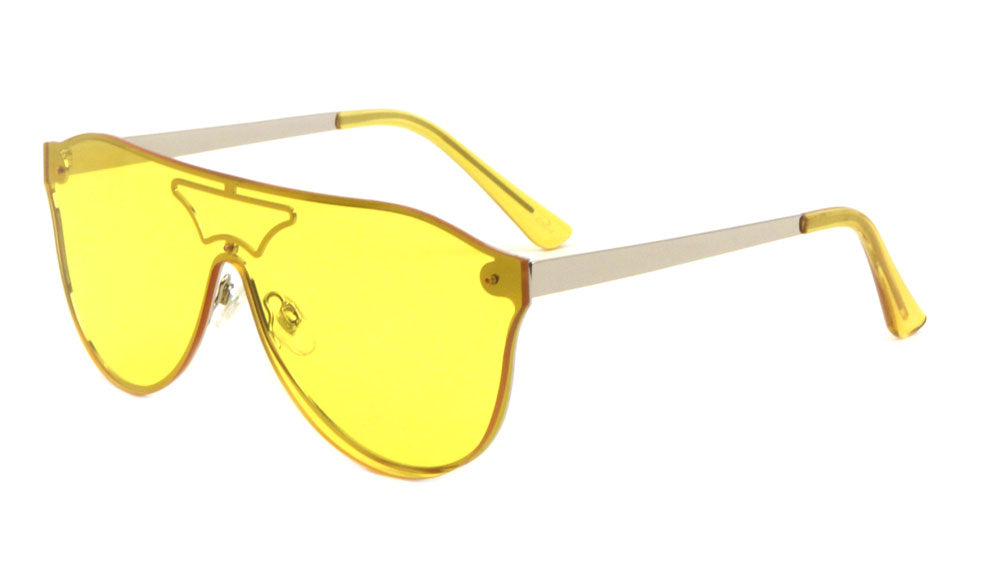 Rimless Solid One Piece Lens Wholesale Bulk Sunglasses