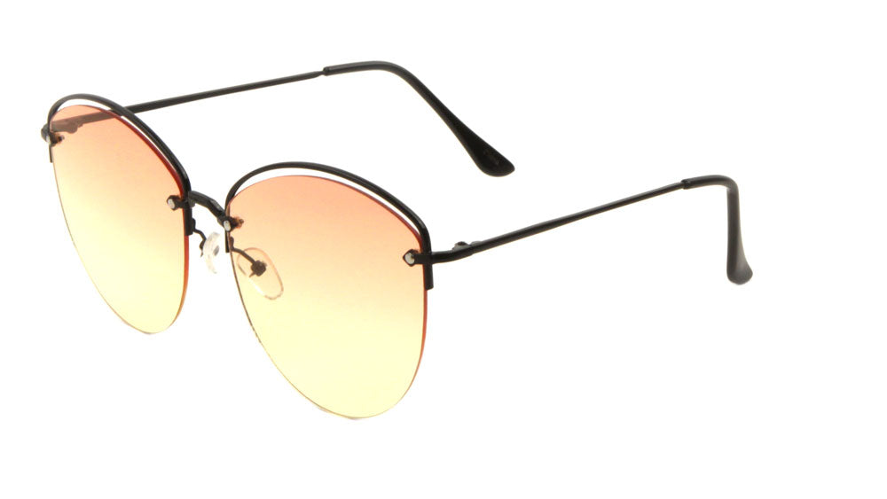 Rimless Oceanic Color Cat Eye Wholesale Bulk Sunglasses