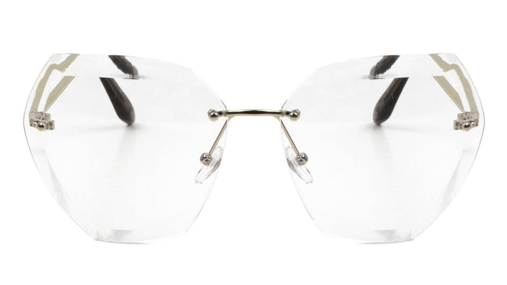 Rimless Butterfly Clear Lens Wholesale Bulk Glasses