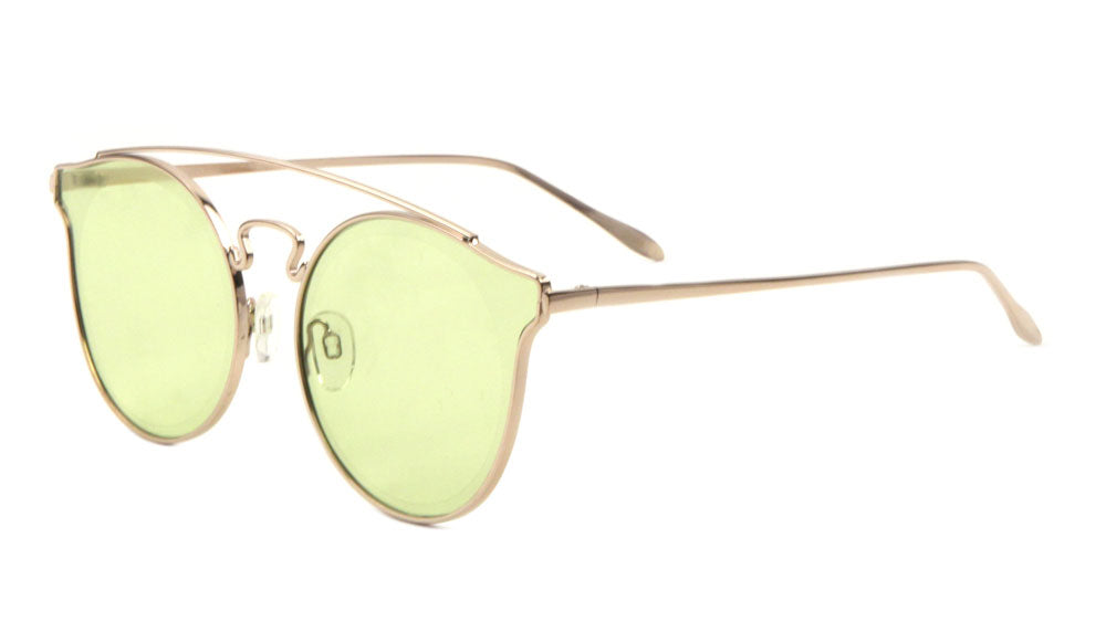 Retro Style Color Mirror Aviators Wholesale Sunglasses