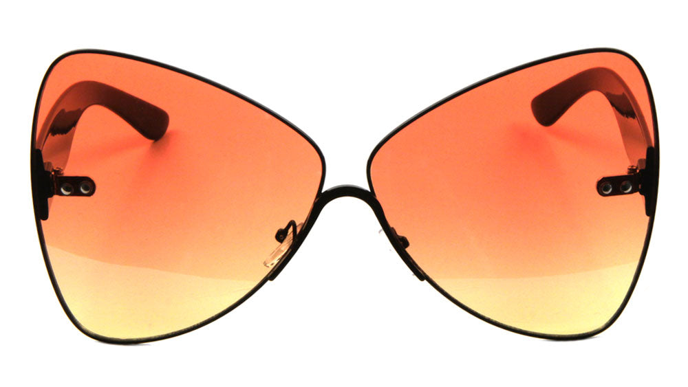 Butterfly Triangular Oceanic Color Lens Wholesale Sunglasses