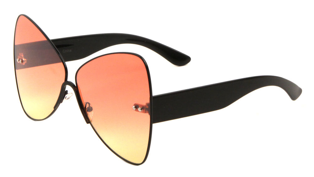 Butterfly Oceanic Color Lens Wholesale Sunglasses
