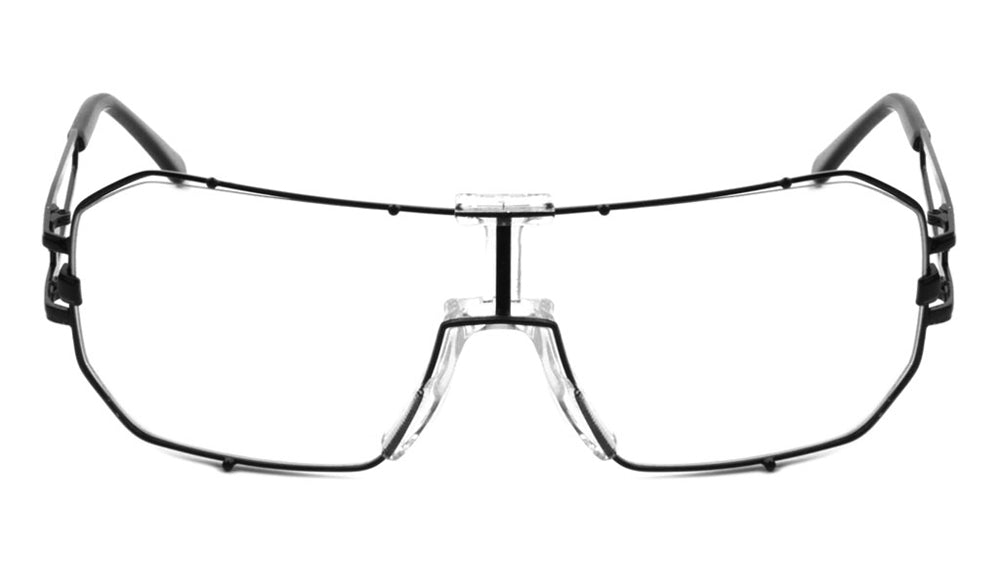 Solid One Piece Metal Accent Clear Lens Wholesale Bulk Glasses