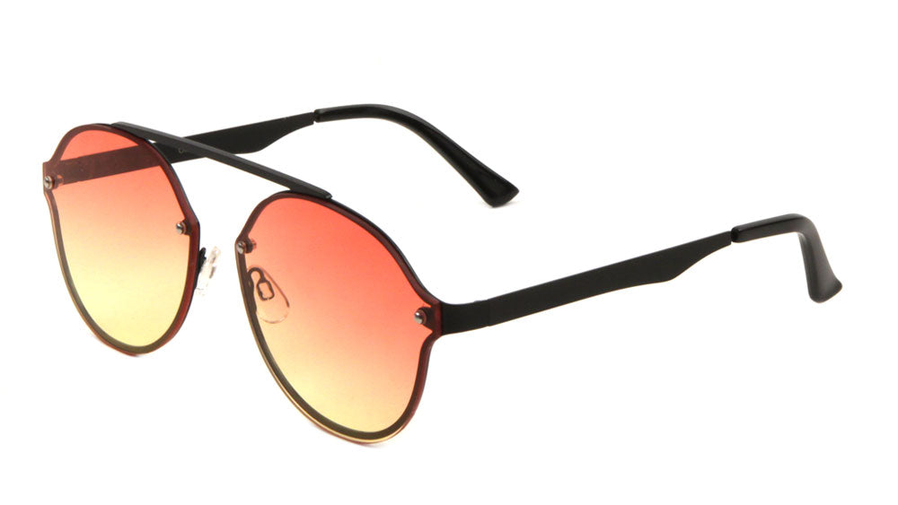 Rimless Bridgeless Oceanic Color Wholesale Bulk Sunglasses