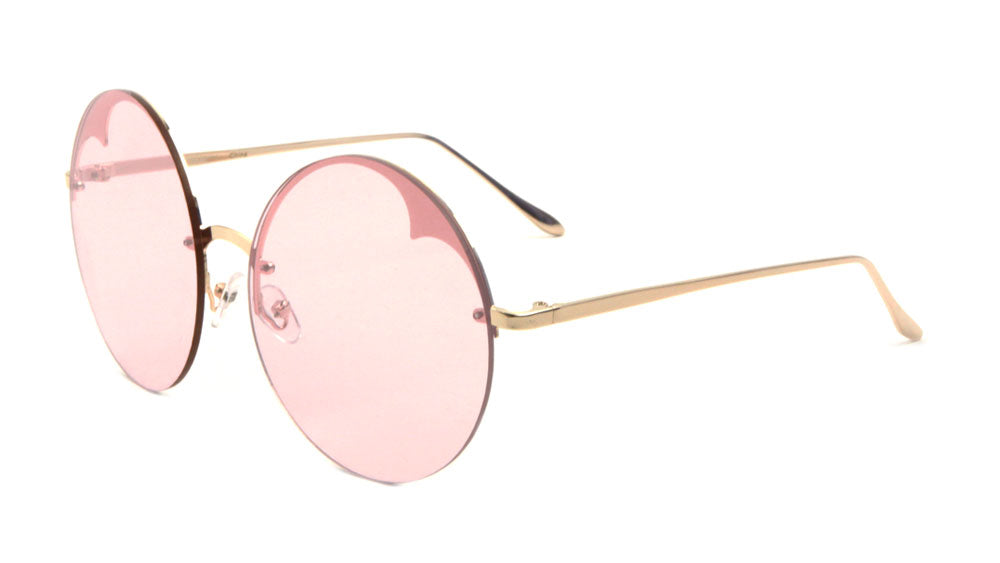 Rimless Round Color Lens Wholesale Bulk Sunglasses