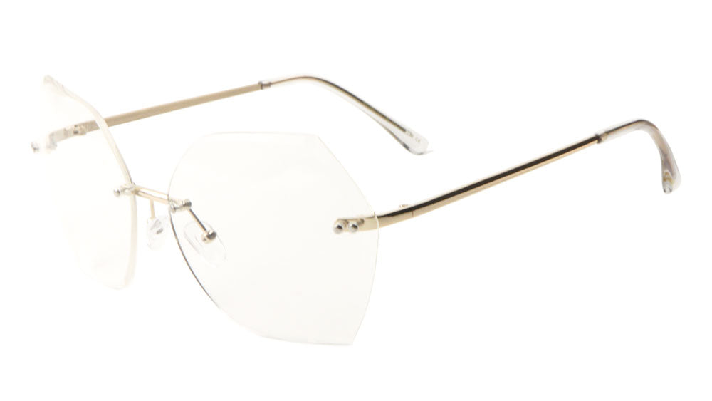 5cf4b46dd0a Rimless Butterfly Clear Lens Wholesale Bulk Glasses – Frontier ...