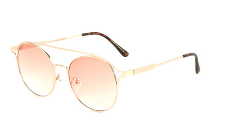 Retro Aviators Oceanic Color Lens Wholesale Bulk Sunglasses