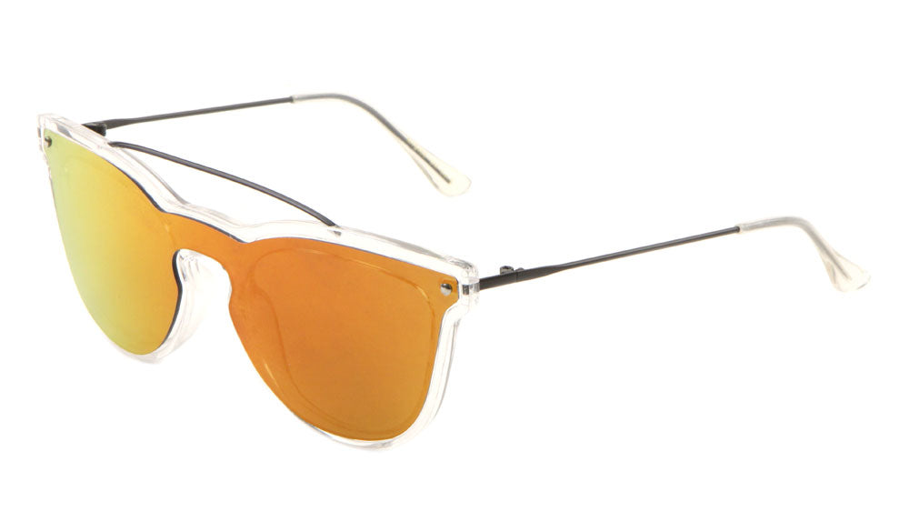 Retro Solid One Piece Color Mirror Wholesale Bulk Sunglasses