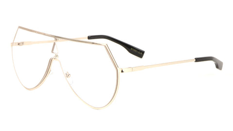 Angled One Piece Clear Lens Wholesale Glasses