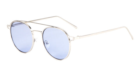 Rounded Color Lens Aviators Wholesale Sunglasses