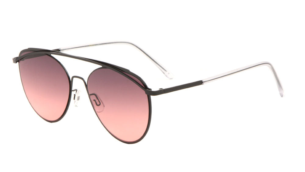 Rounded Oceanic Color Aviators Wholesale Sunglasses