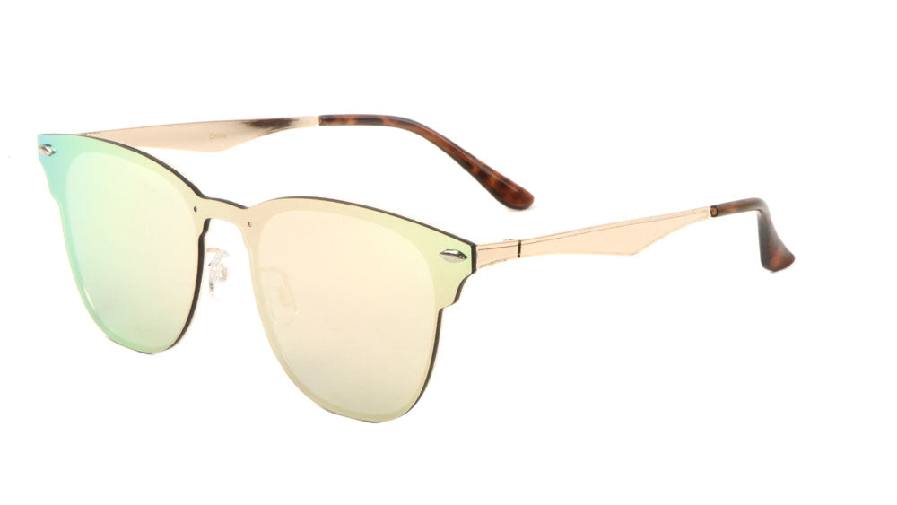 Rimless Retro Solid One Piece Lens Wholesale Bulk Sunglasses