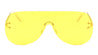 Rimless Solid One Piece Color Lens Wholesale Bulk Sunglasses