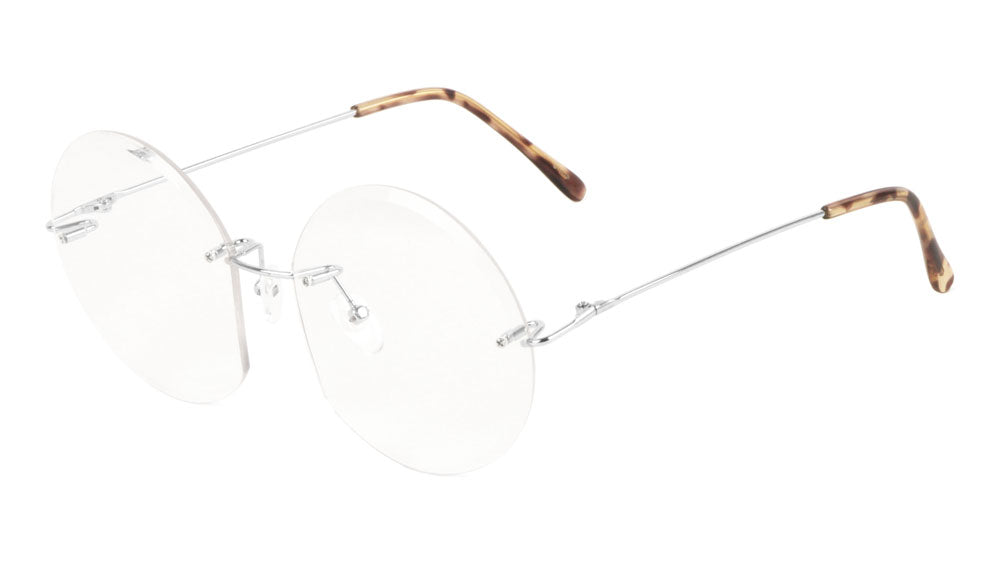 Rimless Round Clear Lens Wholesale Bulk Glasses