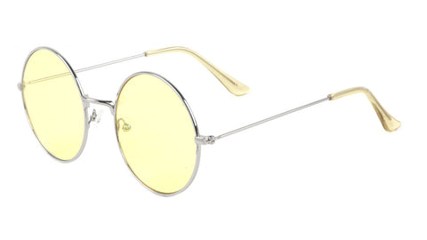 M10596-LT-CO - Round Light Color Lens Wholesale Bulk Sunglasses