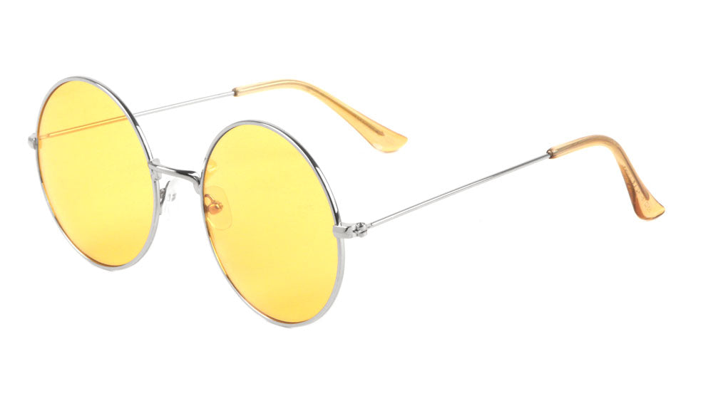 Round Light Color Lens Wholesale Bulk Sunglasses