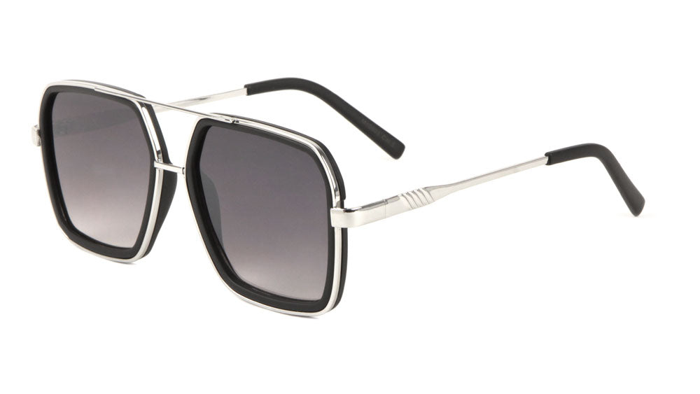 M10601 - Squared Aviators Wholesale Bulk Sunglasses