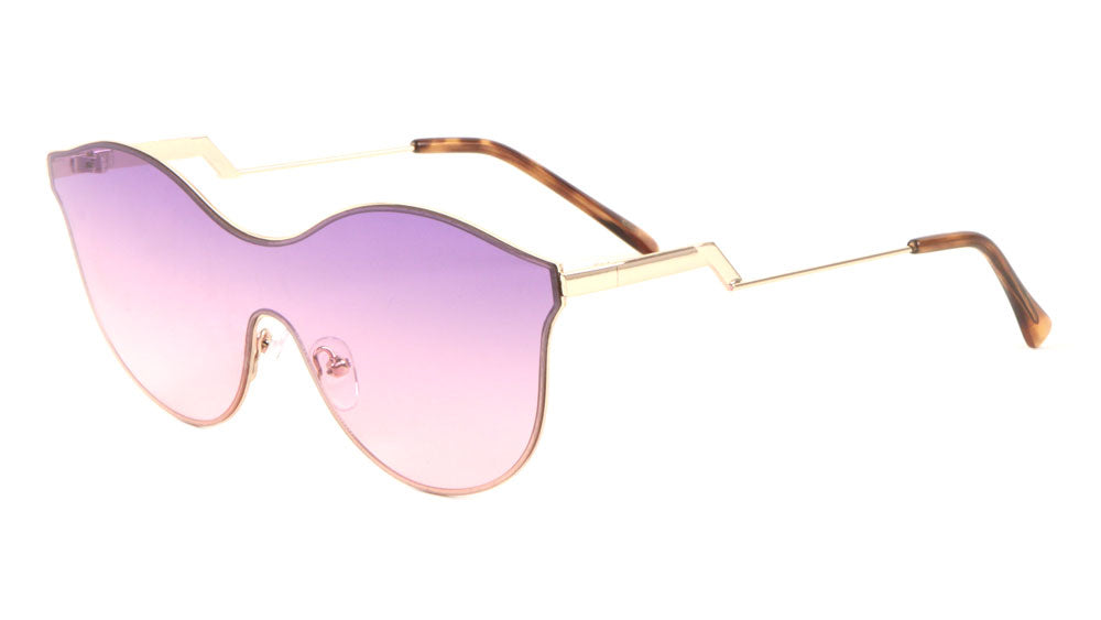 Modern Relief One Piece Oceanic Color Lens Bulk Sunglasses