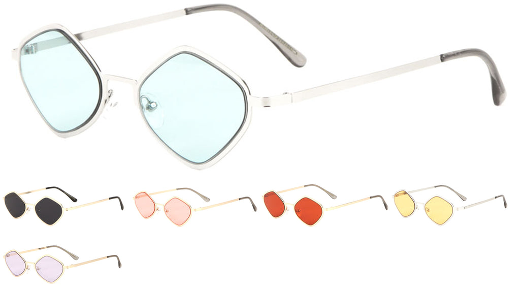 Diamond Frame Color Lens Sunglasses Wholesale