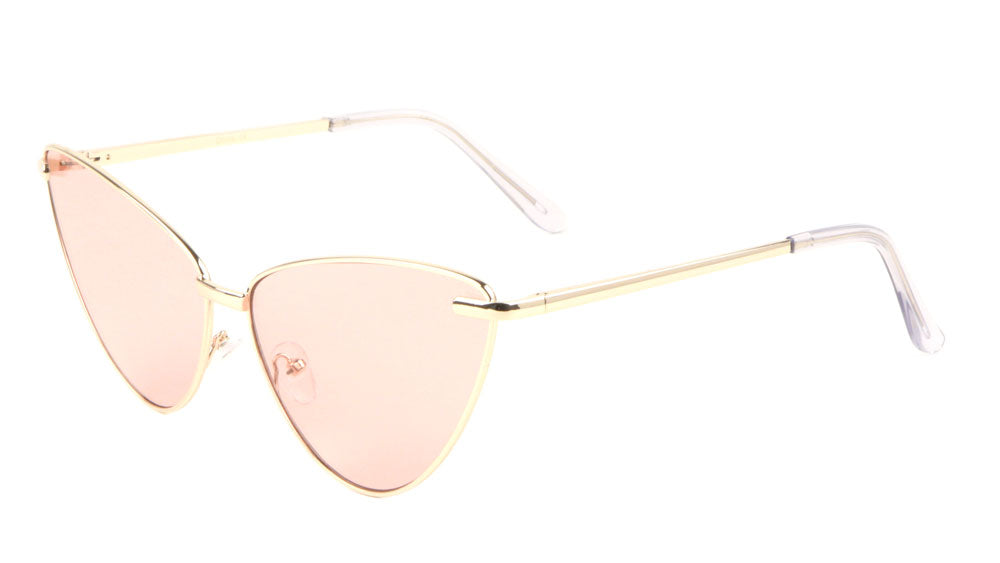 Thin Frame Cat Eye Color Lens Bulk Wholesale Sunglasses
