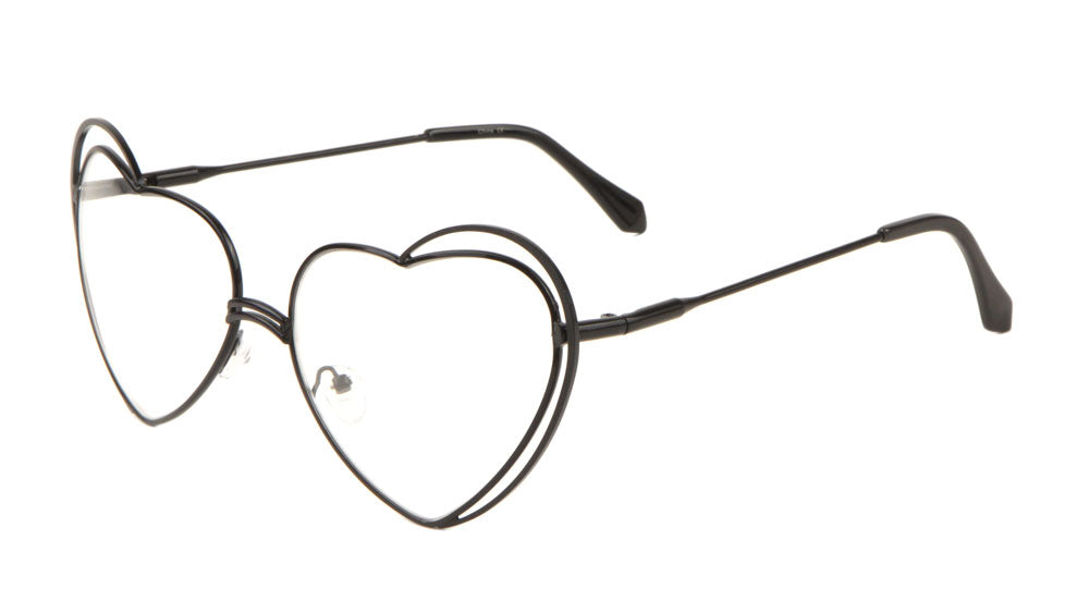 Heart Shaped Clear Glasses Wholesale