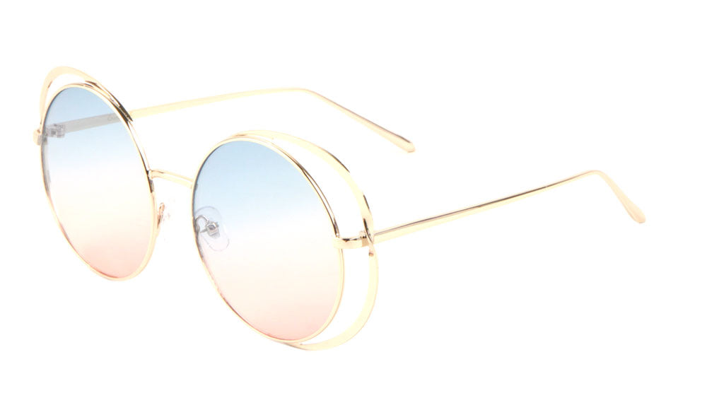 Round Ring Oceanic Color Sunglasses Wholesale