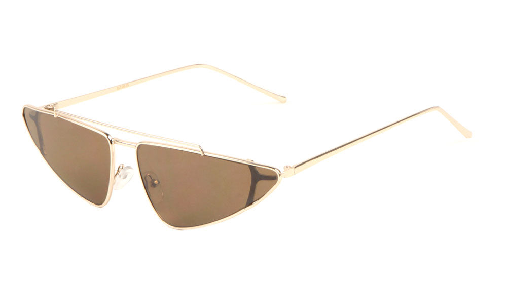 Small Flat Top Aviator Cat Eye Fashion Sunglasses Wholesale