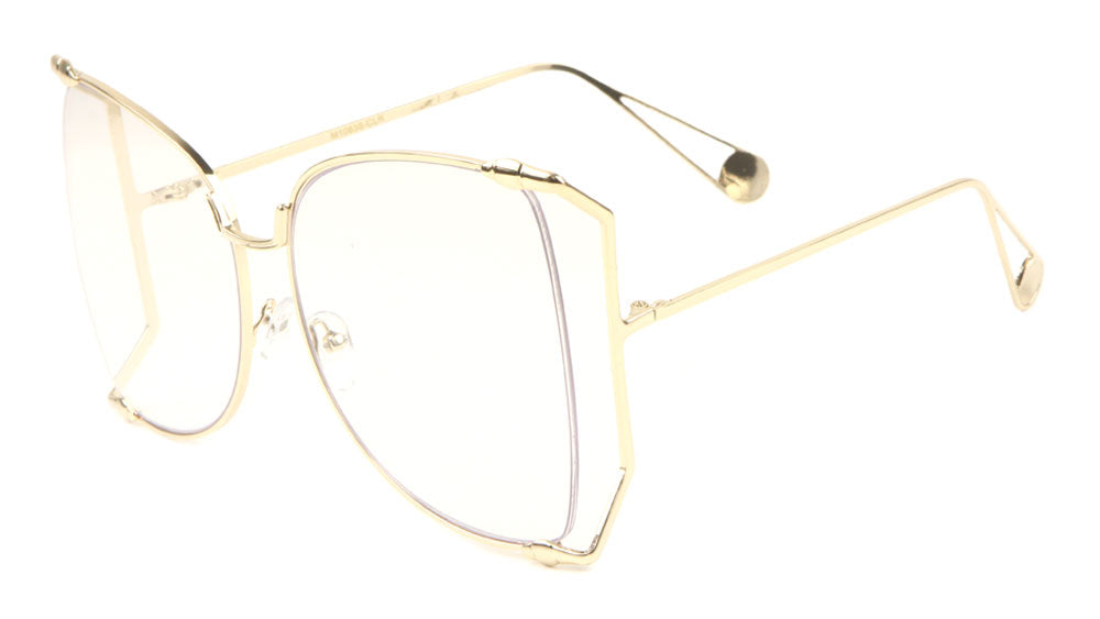 Cut Out Clear Lens Butterfly Glasses Wholesale