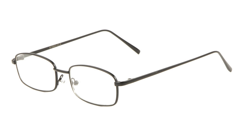 507ece34ed Small Thin Rectangle Clear Lens Bulk Wholesale Glasses – Frontier ...