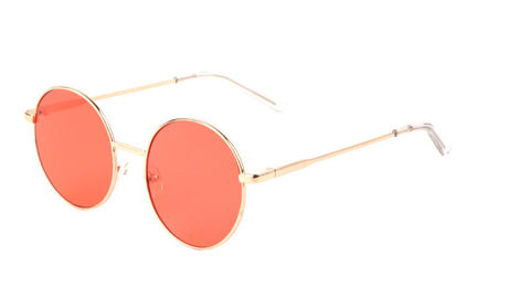 M10645-CO - Round Color Lens Fashion Wholesale Sunglasses