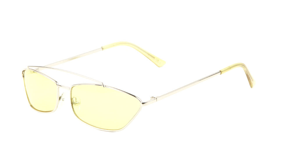 Small Thin Metal Cat Eye Fashion Sunglasses Wholesale