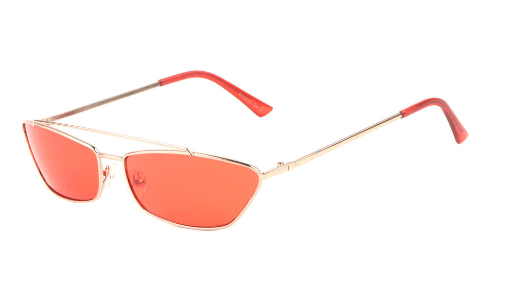 M10652 - Thin Metal Cat Eye Fashion Sunglasses Wholesale