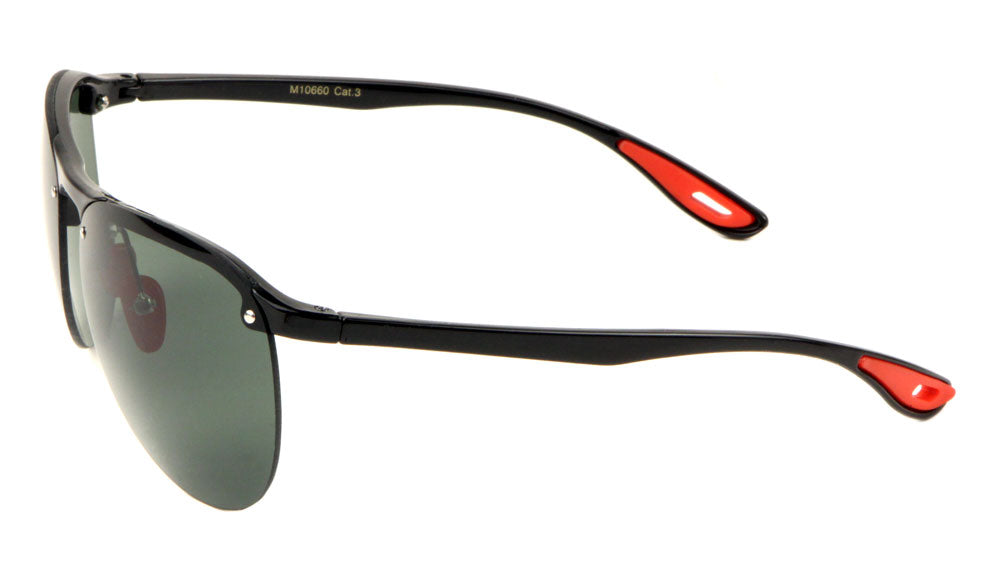 Rimless Rounded Lens Sports Sunglasses Wholesale