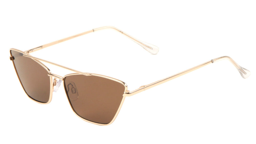 Metal Wireframe Cat Eye Sunglasses Wholesale
