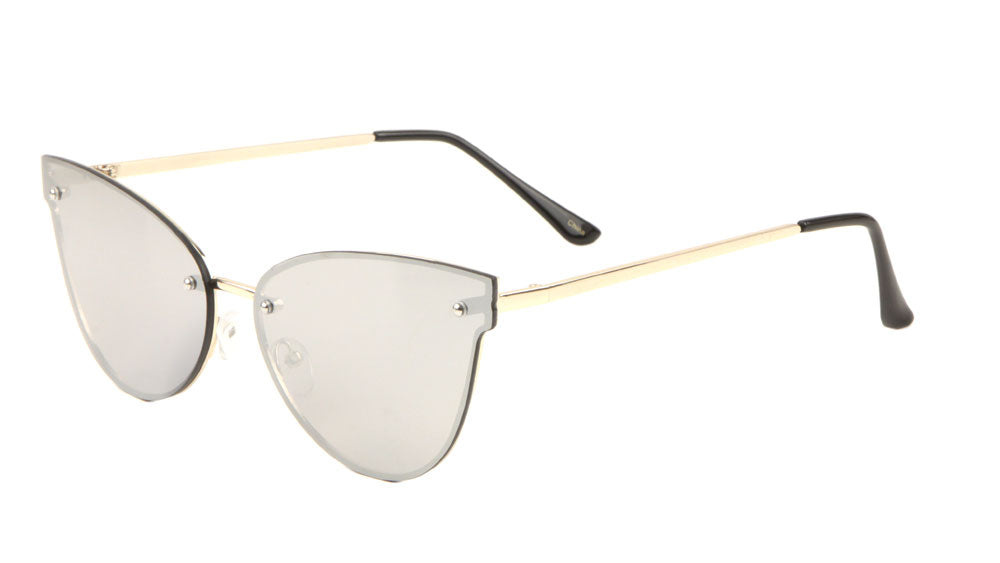 Chic Rimless Cat Eye Sunglasses Wholesale