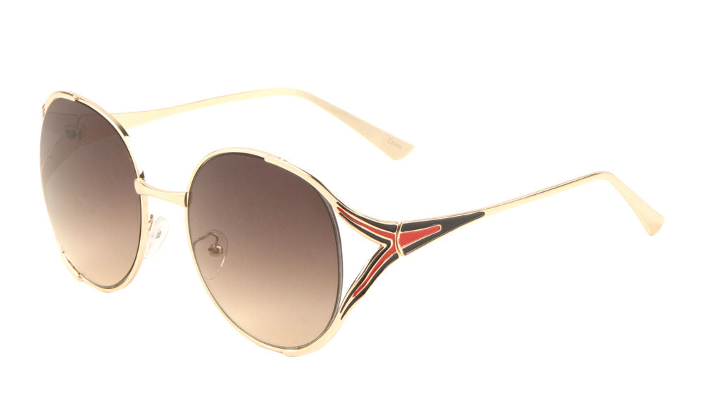 Dual Color Cut Out Butterfly Fashion Sunglasses Wholesale