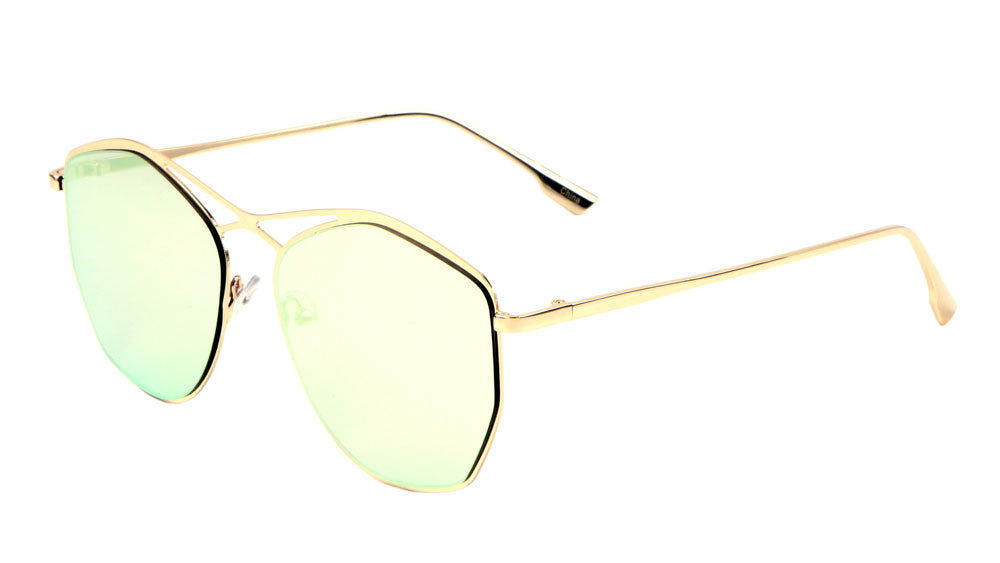Bridgeless Cross Top Bar Fashion Sunglasses Wholesale