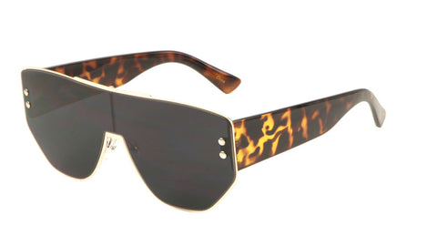 Flat Top One Piece Shield Sunglasses Wholesale