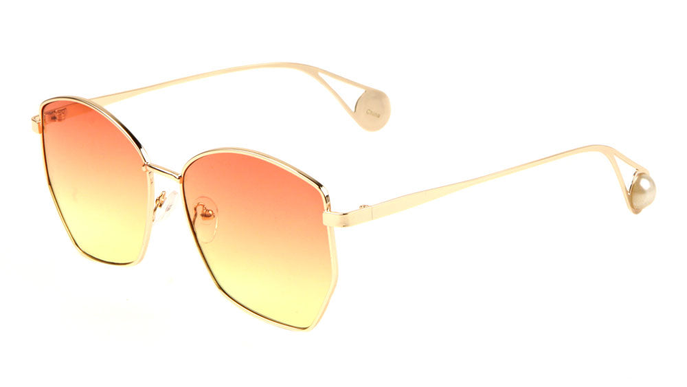 Wholesale Butterfly Pearl Temple Oceanic Color Sunglasses