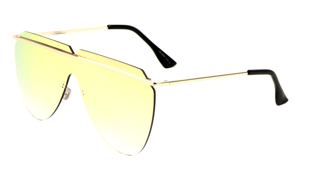 Thin Frame Shield Sunglasses Wholesale