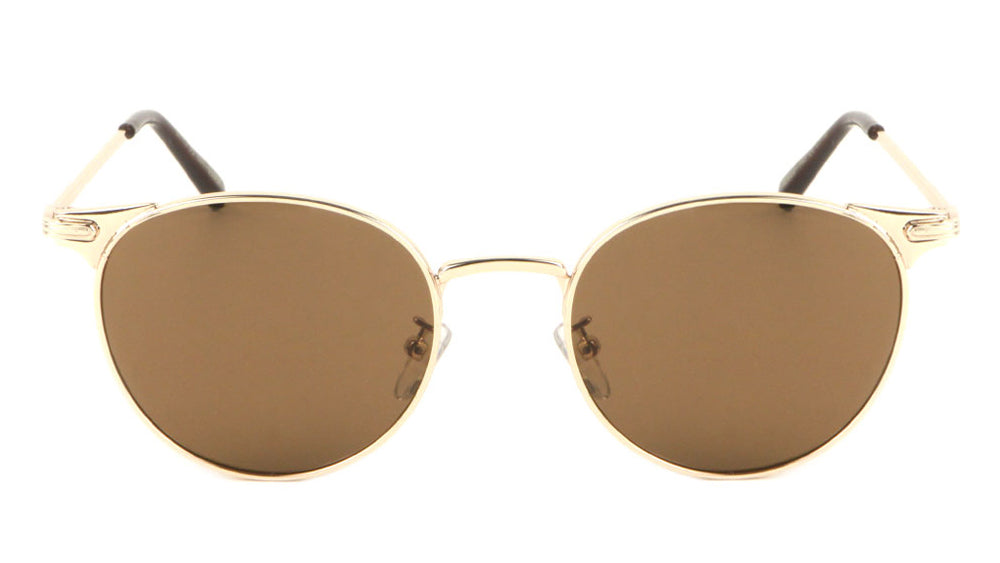 Thin Retro Grooved Frame Sunglasses Wholesale