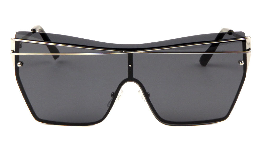 X Cross Shield Rimless Wholesale Sunglasses