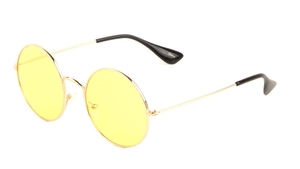 Round Color Lens Wholesale Sunglasses
