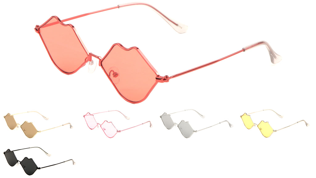 Lips Wireframe Sunglasses Wholesale