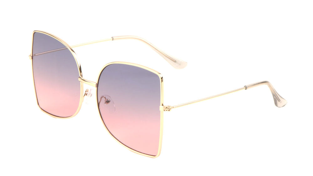 Oversized Straight Edge Butterfly Wholesale Sunglasses