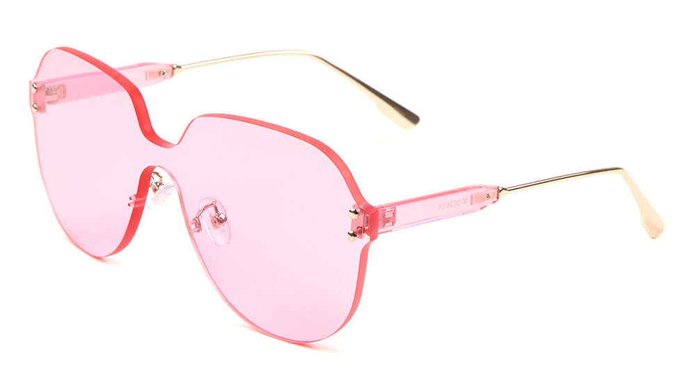 Thick Color Shield Sunglasses Wholesale